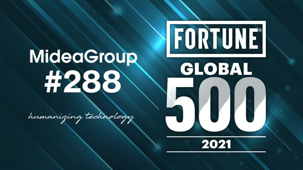 Midea Group No. 288 Fortune Global 500 2021.